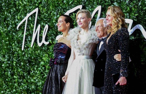 roberta armani cate blanchett giorgio armani julia roberts at british fashion awards 2019