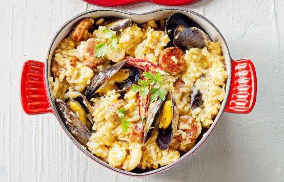 Deniz mahsüllü risotto tarifi (Paella tarifi)