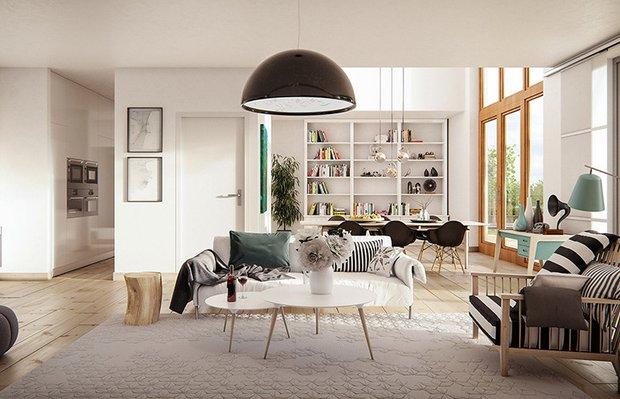 iskandinav stili ev dekorasyonu 18