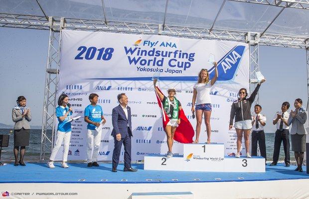 Lena Erdil PWA Rüzgar Sörfü Dünya Kupası Japonya ayağında ikinci oldu