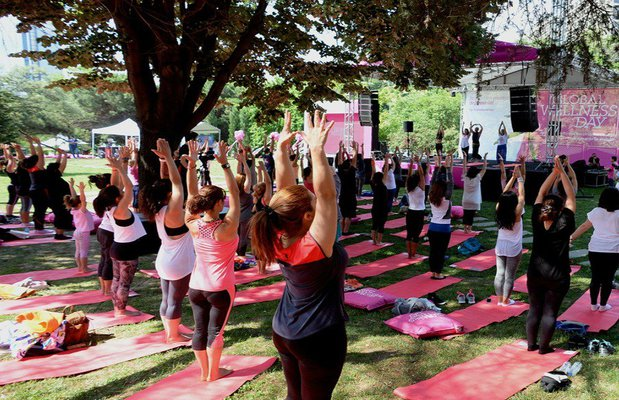 global wellness day yoga