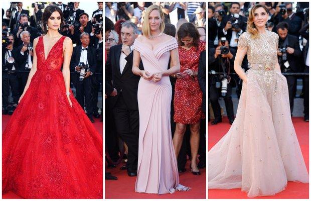 2017 cannes film festivali kirmizi hali elbise moda