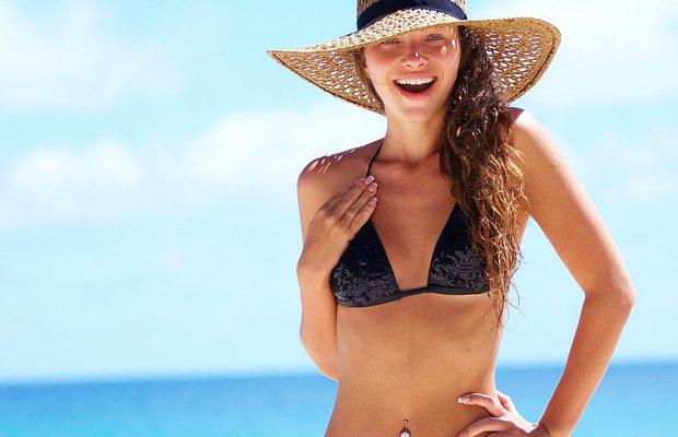 bikini kadin vucut selulit yaz plaj