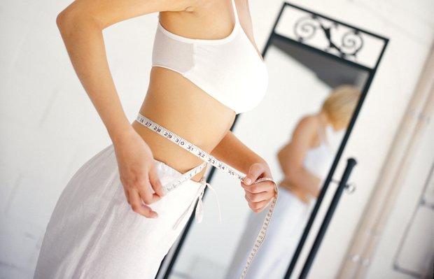diyet egzersiz spor fit form bel gobek mezura olcu mutlu kadin