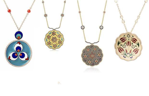kiswah jewellery mucevher cini sanati cintemani kolye kapak