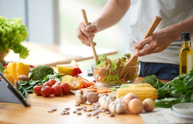 salata saglikli beslenme diyet mutfak hazirlik