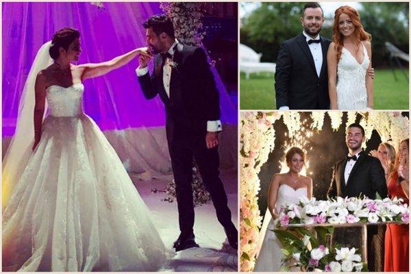 Hafta sonu evlenen ünlüler