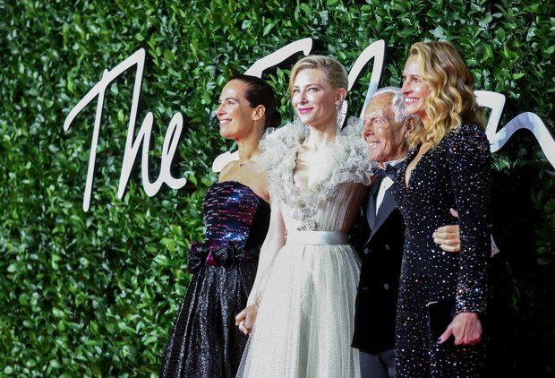 roberta armani cate blanchett giorgio armani julia roberts at british fashion awards 2019