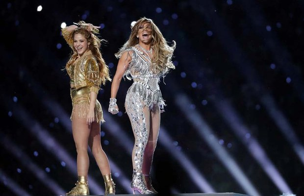 54 super bowl jennifer lopez shakira 2