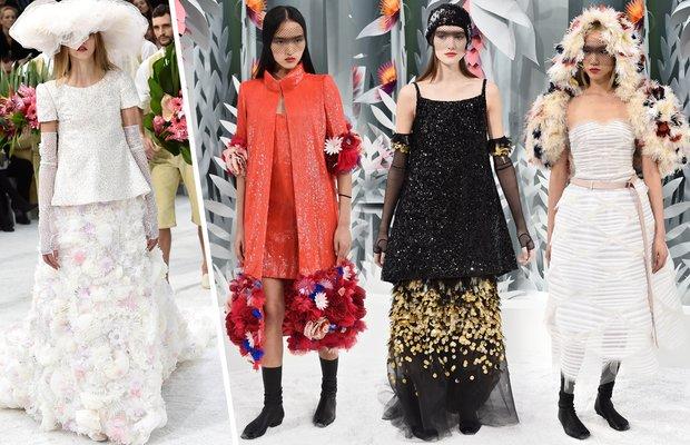 Chanel Haute Couture 2015 İlkbahar-Yaz koleksiyonu chanel runway paris 1