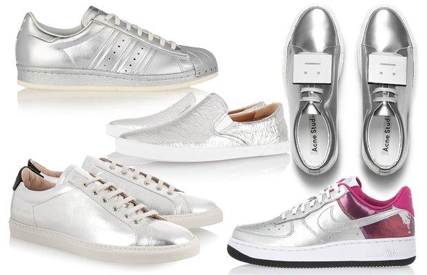 Bu sezon mutlaka almalı: Gümüş spor ayakkabı