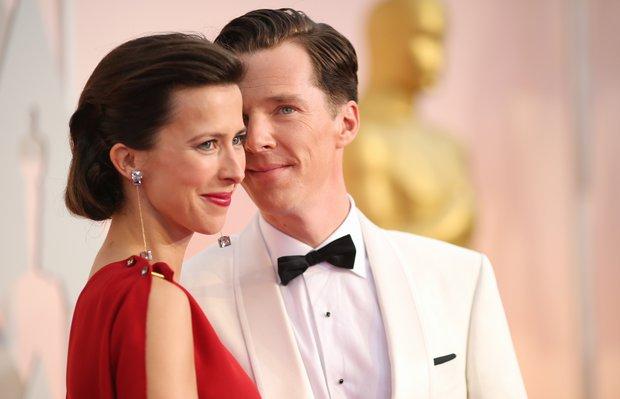 2015 Oscar Ödül Töreninin en şık çiftleri benedict cumberbatch sophie 1
