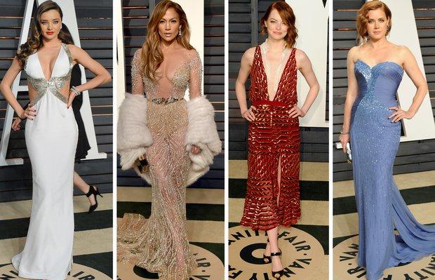 2015 Oscar Partisi'nde kim, ne giydi? oscars 2015 after 1