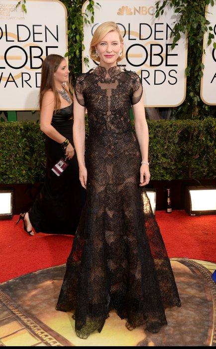 2014 Altın Küre Ödülleri'nde kim, ne giydi? Cate Blanchett Armani 1