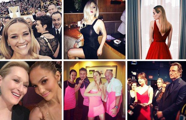 2015 Oscar Töreni'nden ünlülerin Instagram paylaşımları unlu oscar 2015 1