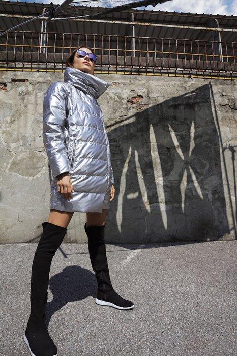 AX Armani Exchange 2018-19 Sonbahar Kış Koleksiyonu Metalik rengi puffer mont