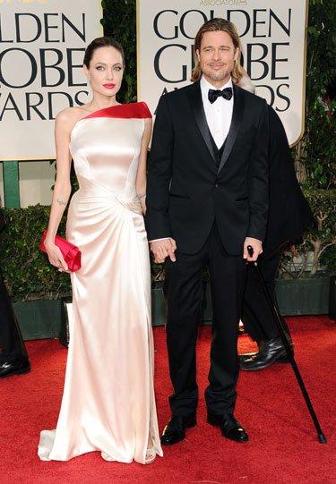 Altın Küre 2012'nin en şık yıldızları Angelina Jolie Brad 3