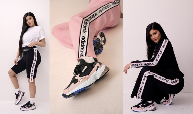 Kylie Jenner adidas Originals Falcon ile bulustu