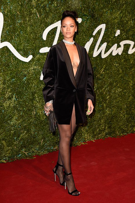 2014 İngiliz Moda Ödülleri'nde kim, ne giydi? rihanna british fashion 1