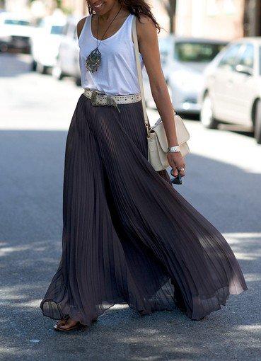 Uzun etek giymek isteyenlere stil önerileri uzun etek maksi 1