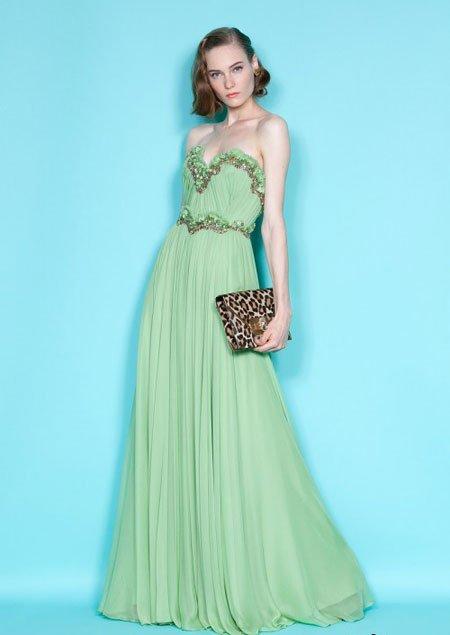 Длинные зеленая мята вечернее платье милая линия шифоновое официально ну вечеринку платье сшитое(China (Mainland